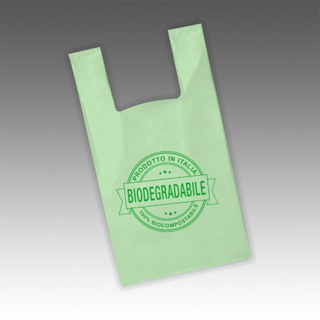 Shopper Biodegradabile Verde